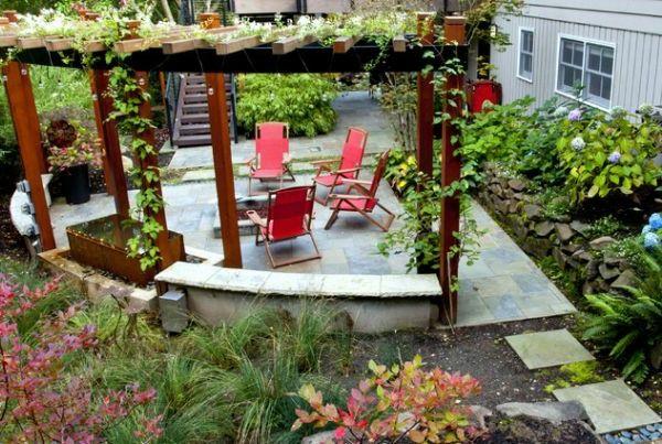 1000 ideas about pergola bois on pinterest pergola en bois mini piscine a - Pergola metal adossee ...