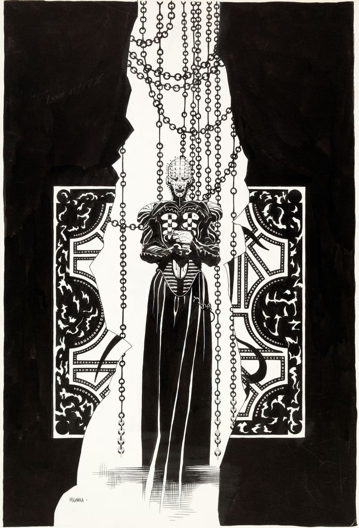 Mike Mignola Hellraiser Pinhead Illustration Original Art (c. 1990s)