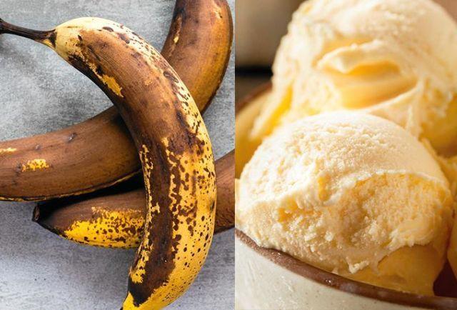 göra glass av banan