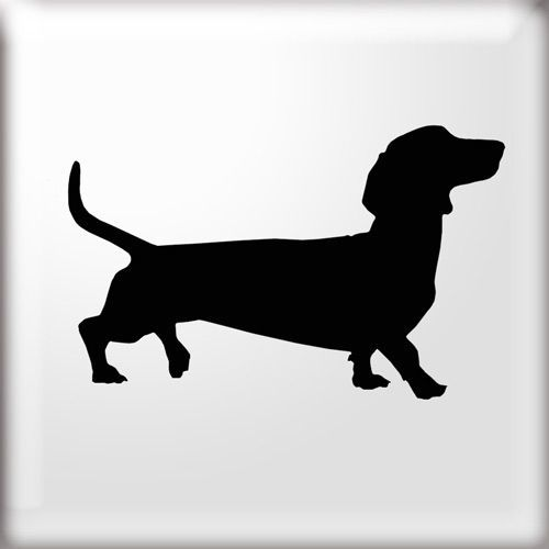 DACHSHUND DOG SILHOUETTE STENCIL Simple Dachshund dog shape stencil Use this stencil to paint a simple single motif or repeat at regular intervals to: