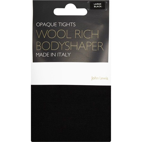 John Lewis Wool Bodyshaper Tights , Black ($24) ❤ liked on Polyvore featuring intimates, hosiery, tights, black, woolen tights, holiday stockings, john lewis hosiery, woolen stockings and opaque stockings
