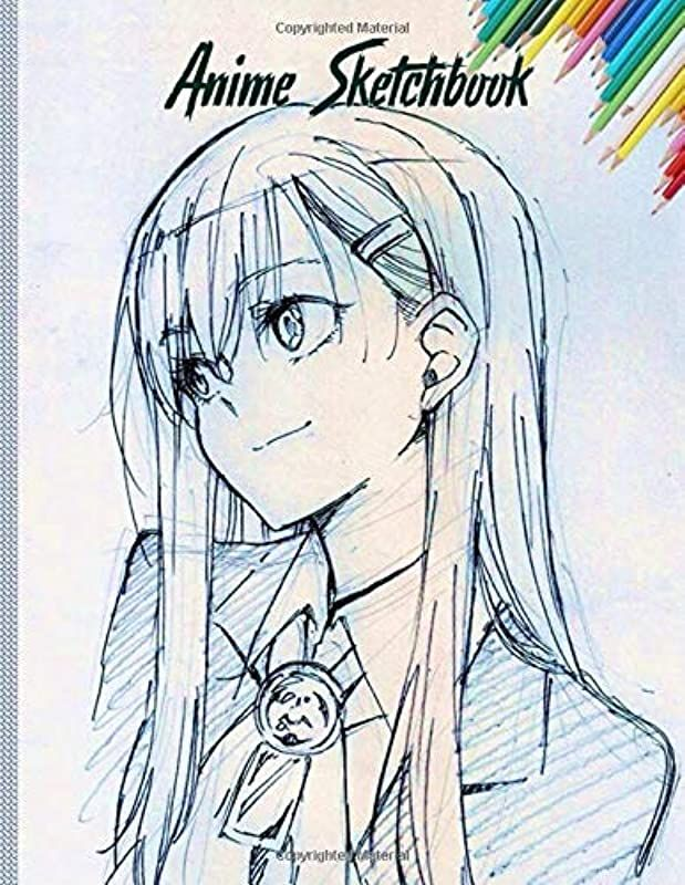 Read Book Anime Sketchbook 100 Blank Pages 8 5 X 11 Sketch Pad For Drawing Anime Manga Comics Do
