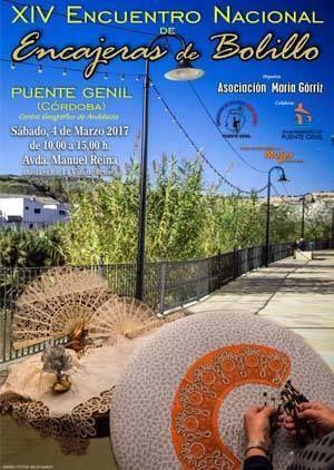 El próximo 4 de marzo se celebra el XIV Encuentro Nacional de Encajeras de Bolillo en #PuenteGenil. Os esperamos!
