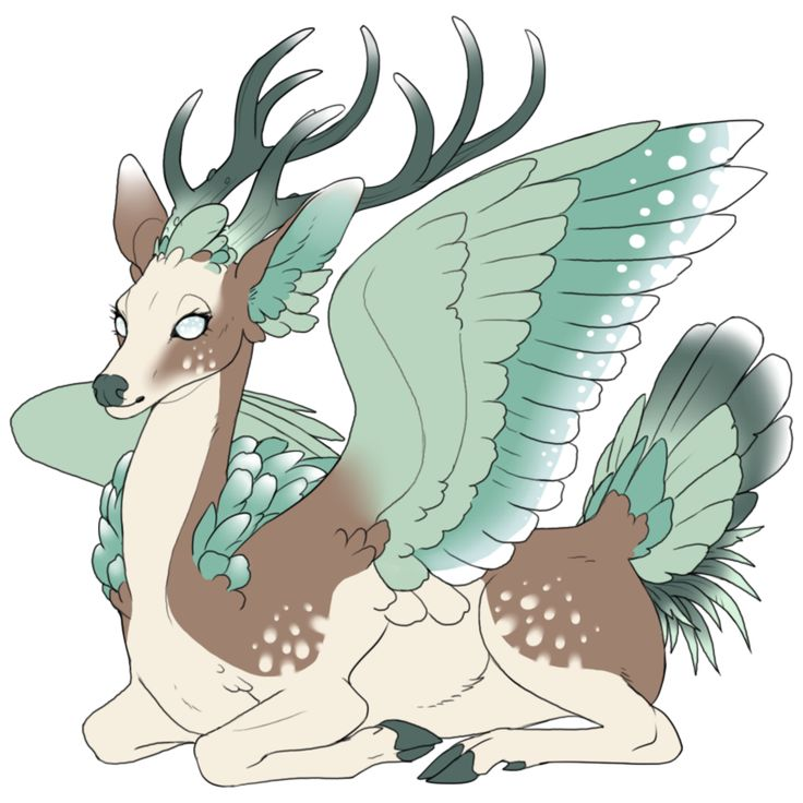 The peryton is a mythological creature resembling a deer with the wings and overall plumage of a bird. Description from pinterest.com. I searched for this on bing.com/images