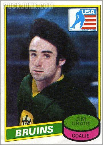 1980-81 Topps card #22 - Jim Craig