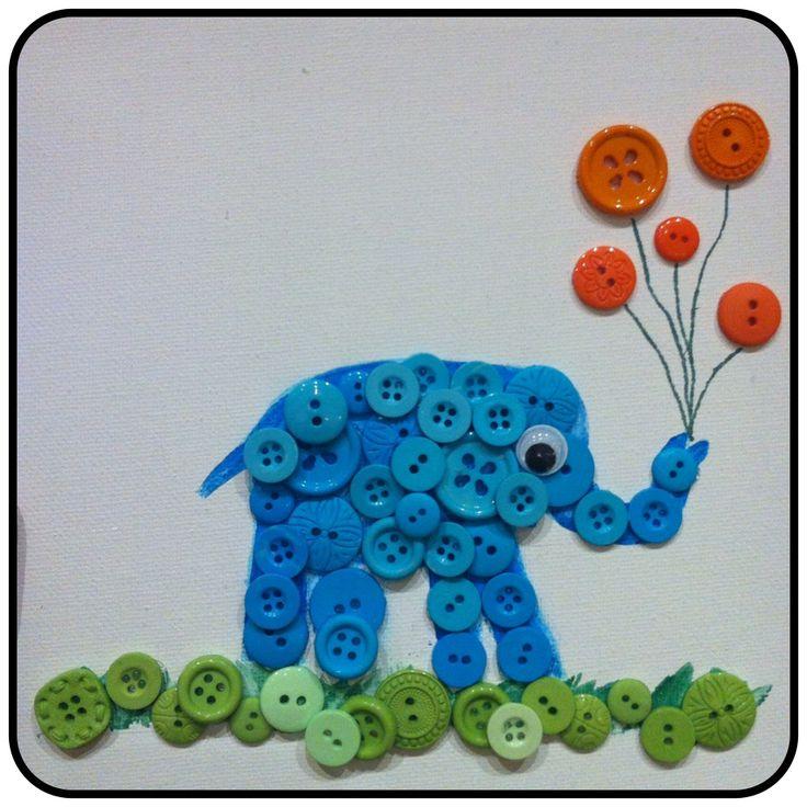 Elefant - knapper - barselsgave ide