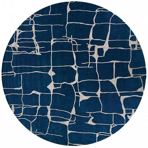 Круглый ковер ручной работы (Франция) Colombo circle deep blue