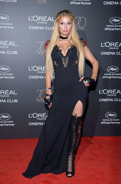 Paris Hilton attends the Gala 20th Birthday Of L'Oreal In Cannes during the 70th annual Cannes Film Festival at Martinez Hotel on May 24, 2017 in Cannes, France.