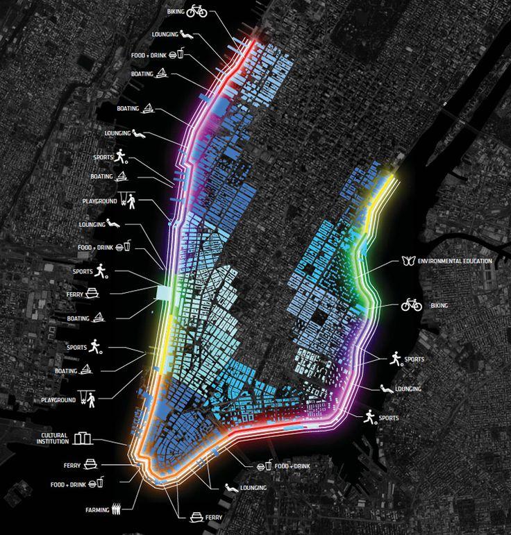 bjarke ingels group proposes big U to protect manhattan from storm surges - designboom | architecture & design magazine