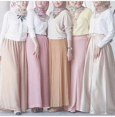 Hijab outfits in pastel colors…