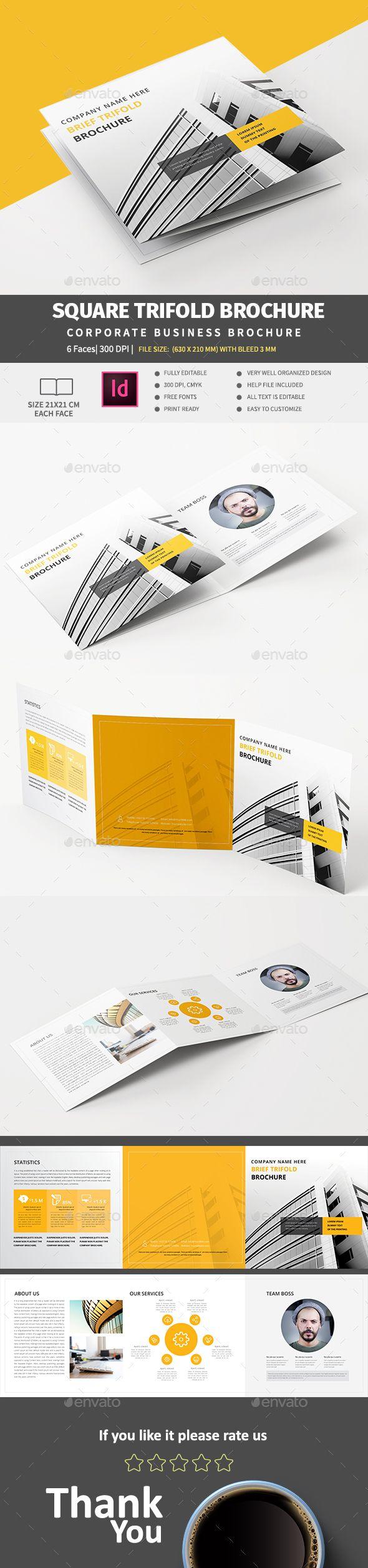 Square Tri-Fold Brochure Template InDesign INDD