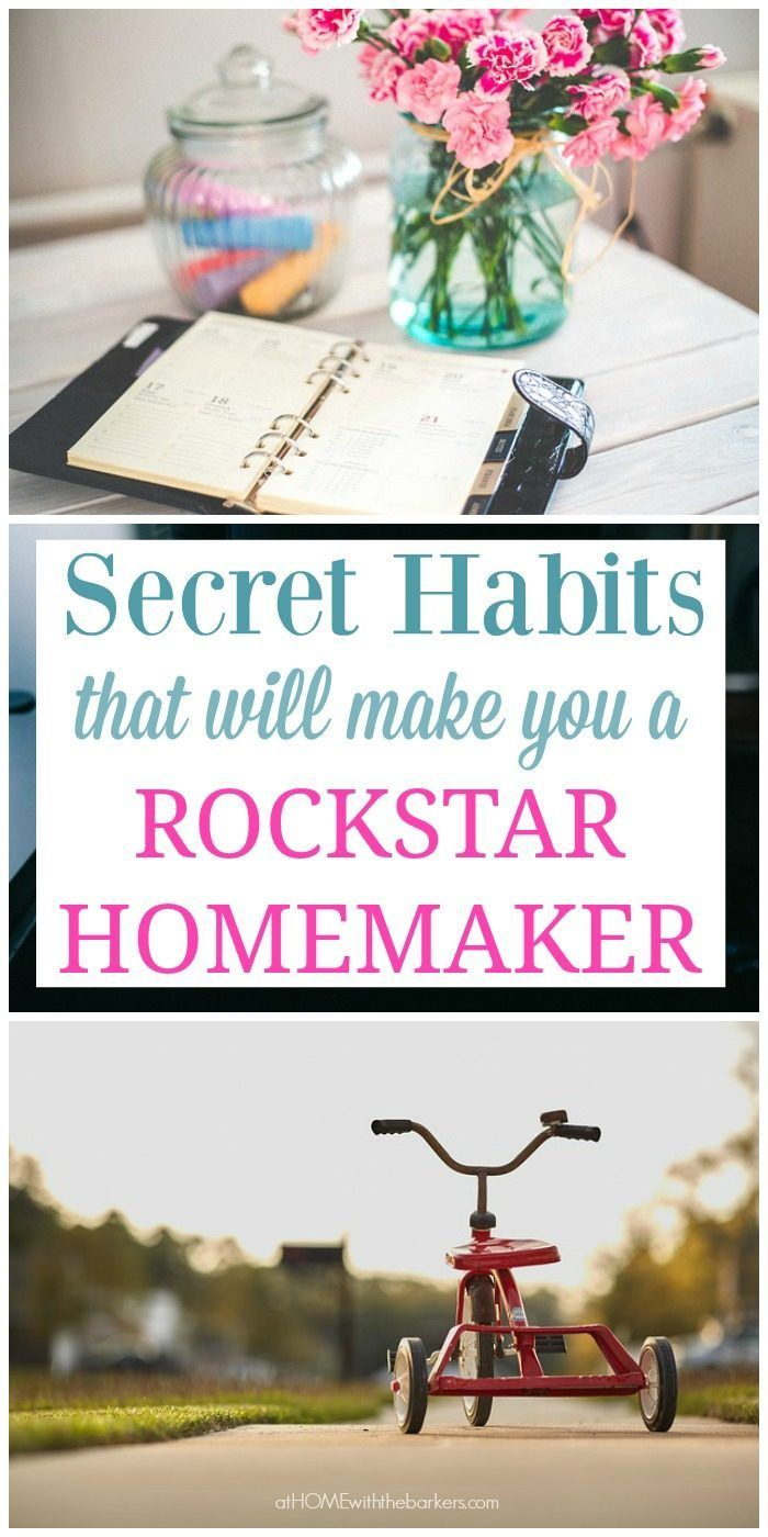 Secret habits that will make you a rock star homemaker that are tried and true from a wife of 22 years and a mom of 18 years.