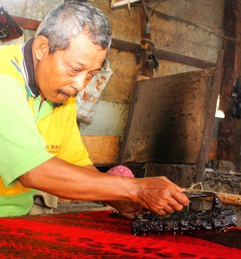 making batik printing