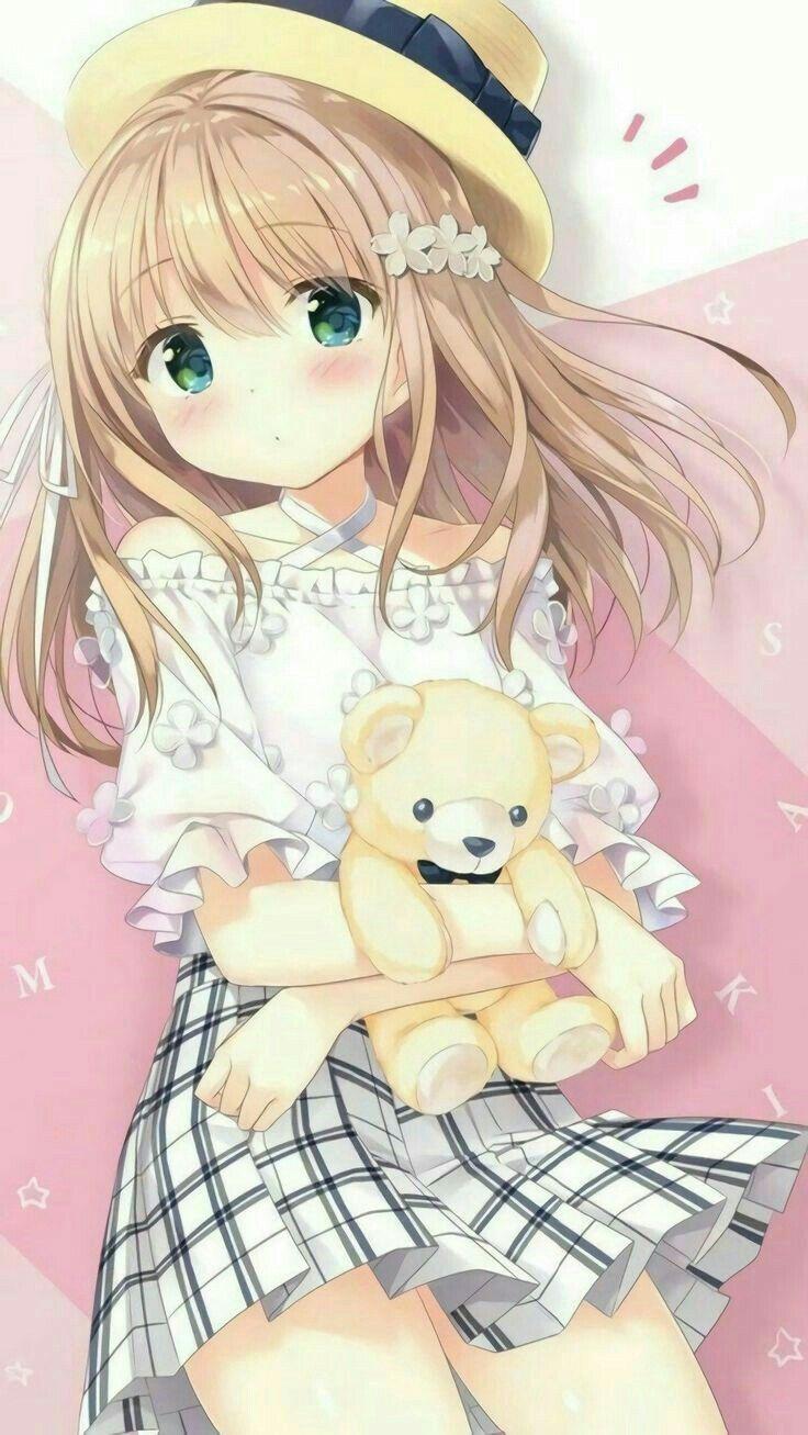 Anime Neko Girl Tired