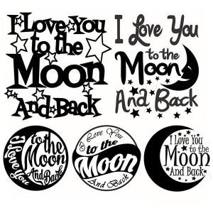 I love you to the moon and back - Quote  Svg Cuttable DesignsCuttable Design Cut…