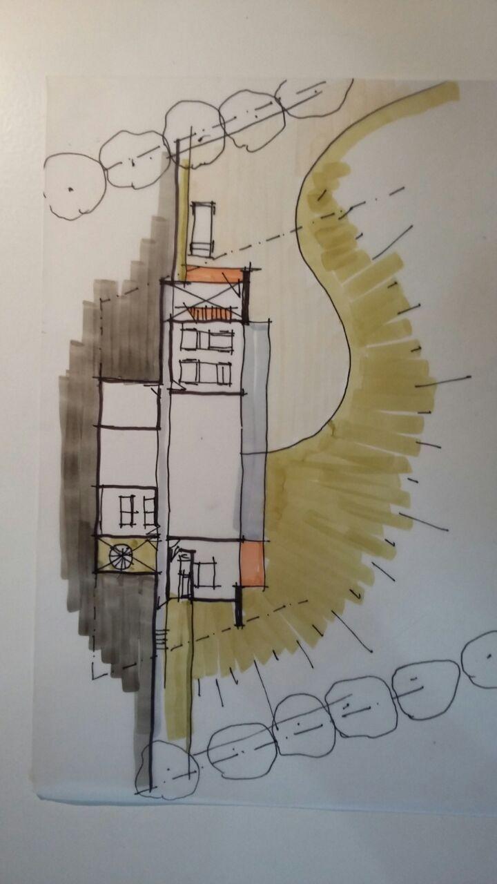House Migliette conceptual sketches #architecture #designstudio #commercial #frankbohmstudio