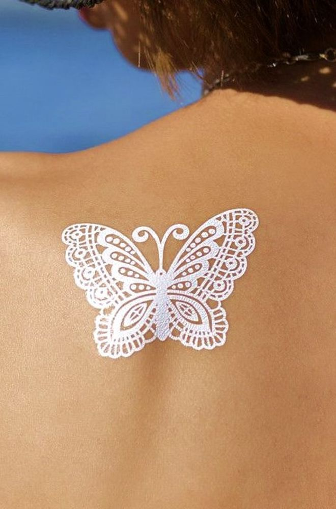 details about bohemian gypsy white henna butterfly armbands festival temporary tattoo henna. Black Bedroom Furniture Sets. Home Design Ideas