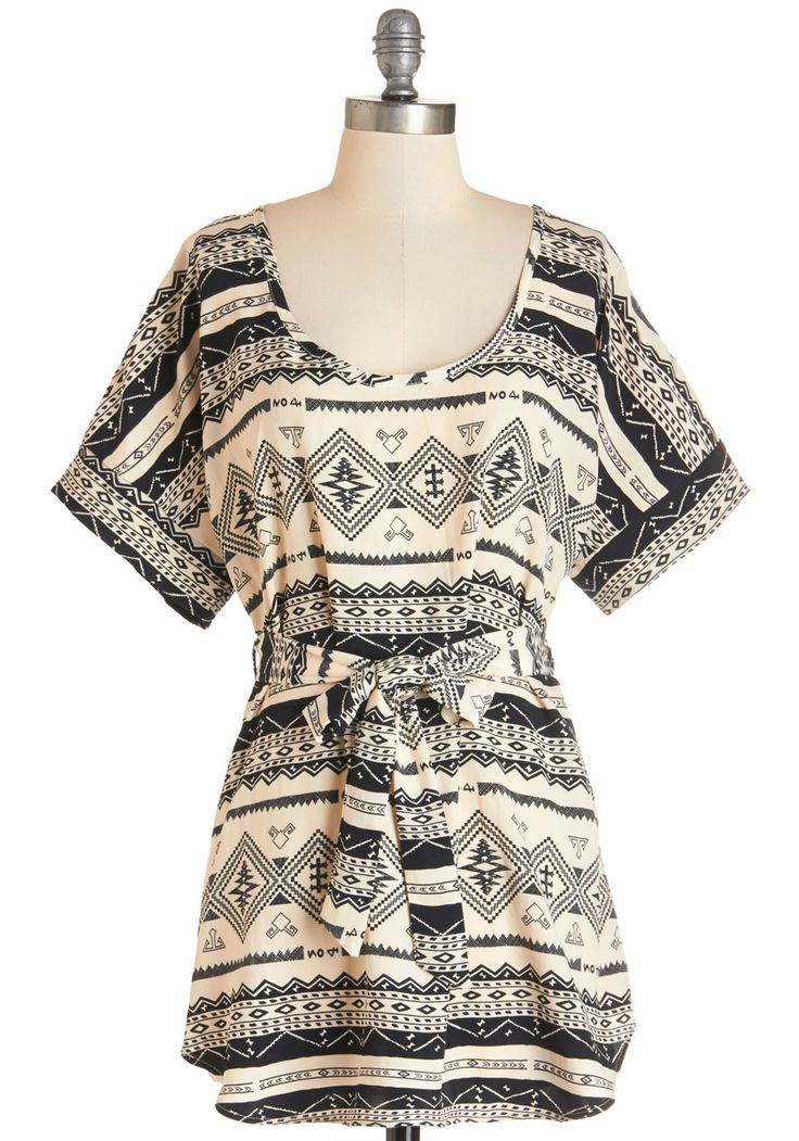 Belted tunic.