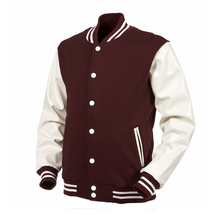 Angel Cola Maroon & White Varsity Cotton & Synthetic Leather ...