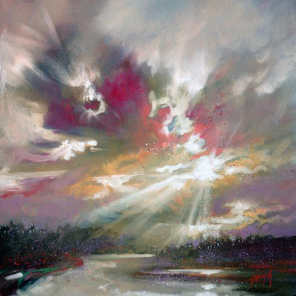 Loch Light by Scott Naismith Oil on canvas