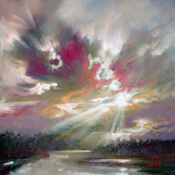 "Scott Naismith painting, ""loch light"" as a print"