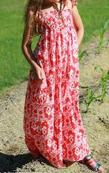 Maxi Dress for Girls - free sewing instructions