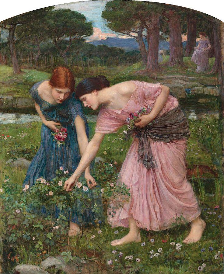 Waterhouse-gather ye rosebuds-1909 - John William Waterhouse - Wikipedia, the free encyclopedia