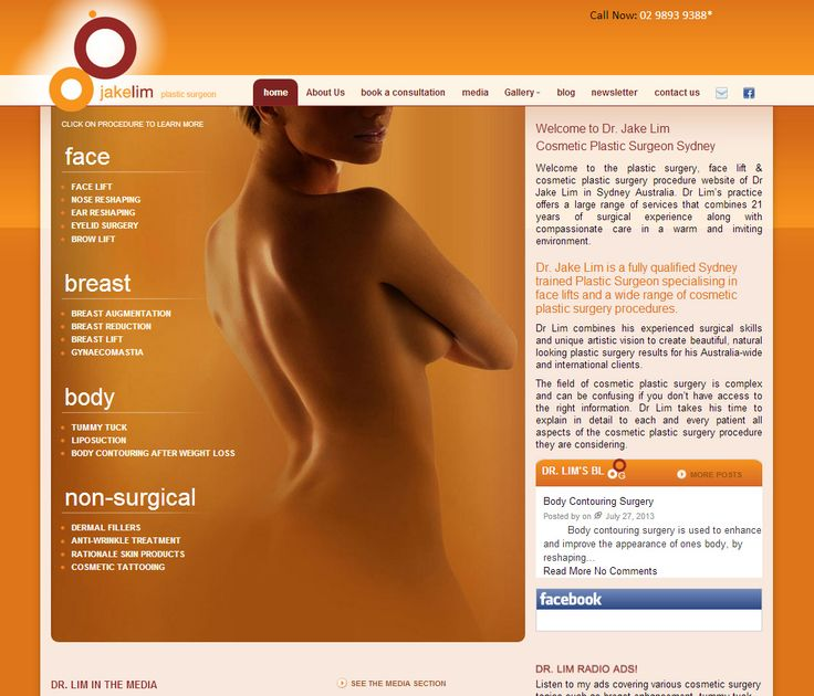 Eye-catching, beautiful aesthetics make Dr Jake Lim's #website stand out, effectively reflecting his position as one of Sydney's leading #cosmetic surgeons. #Responsive #website #design displays the site perfectly on any device.