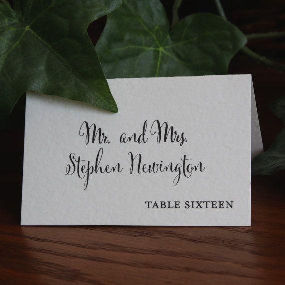 Wedding Place Cards, Escort Cards Weddings, Rustic Place Cards, Folded place cards, Printed Place Cards