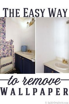 The fast and affordable way to strip and remove Wallpaper.  #DIY #Decorating