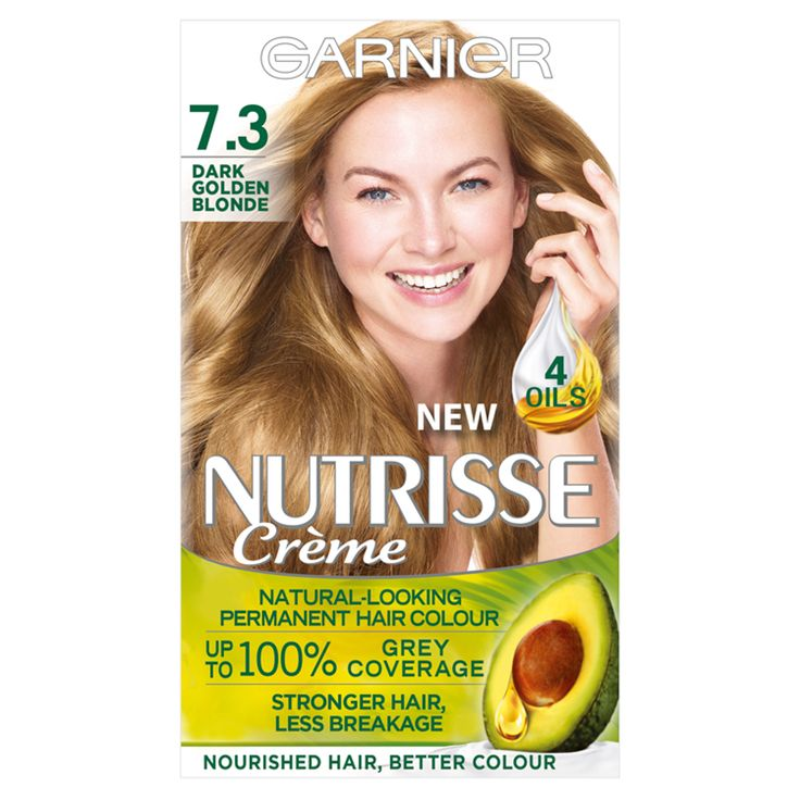Garnier Nutrisse Creme 7 3 Dark Golden Blonde Hair Dye Permanent