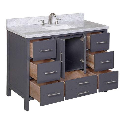 "Wayfair Bathroom Vanity >> Found it at Wayfair - California 48"" Single Bathroom Vanity Set | Bath | Pinterest | Single ..."