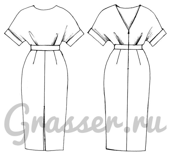 Выкройка №423, платье, магазин выкроек grasser.ru #sewing_pattern
