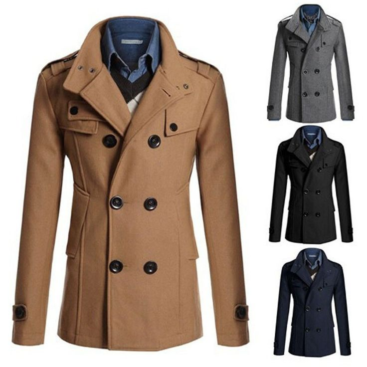 Turn-down Collar Wool Blends Warm Men's Thick Coat Double Breasted Winter Overcoat For Male  #Sale #You #Thank