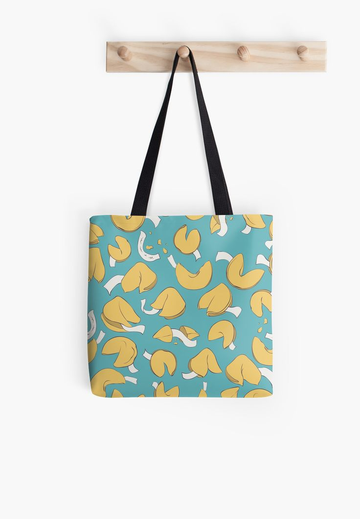Fortune (cookie) Pattern Tote Bags by AnMGoug on Redbubble. #cookies #bag #tote #pattern