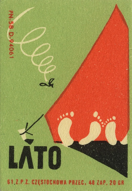 polish matchbox label Summer