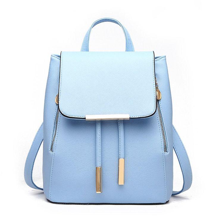 Women Girls Ladies Backpack Fashion Shoulder Bag Rucksack PU Leather Travel bag (black): Amazon.co.uk: Luggage
