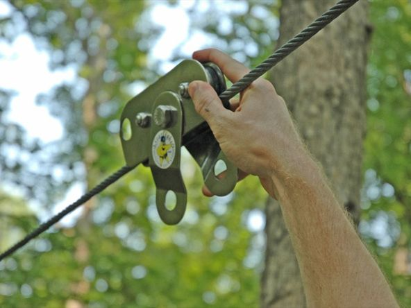 Backyard Zip Line — DIY How-to from Make: Projects