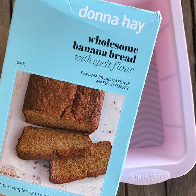 Well its spelt so it MUST be better for you. Right? Trying out a banana cake mix for the first time. #NotMyUsual #Convenient
