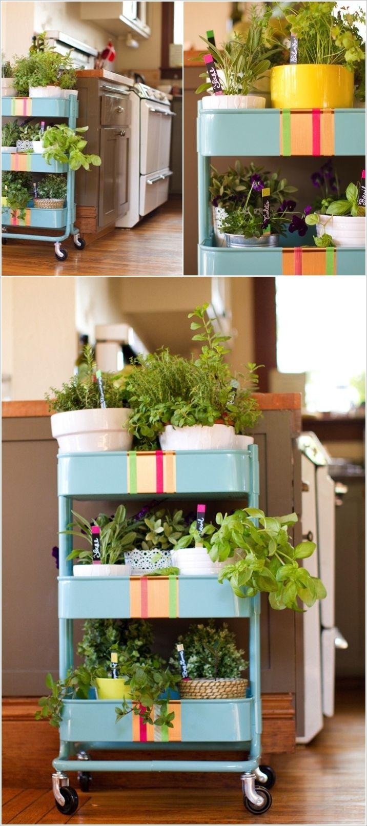 RÅSKOG Kitchen Cart Into A Rolling Herb Garden   IKEA Hackers