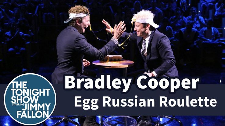 Bradley Cooper and Jimmy Fallon Compete in a Surprisingly Tense Game of Egg Russian Roulette on 'The Tonight Show'