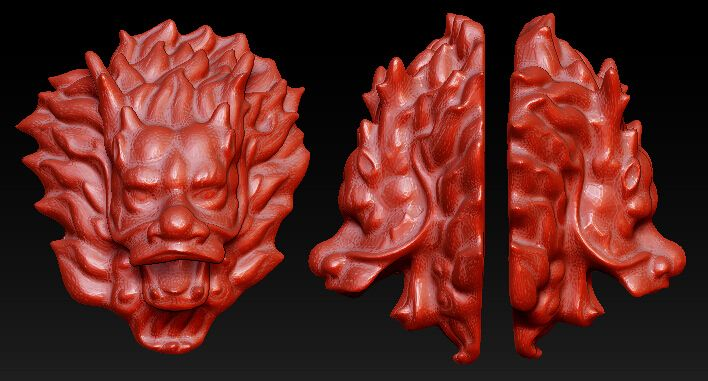 3D model for cnc 3D carved figure sculpture machine in STL file format The Chinese culture,The head of a dragon