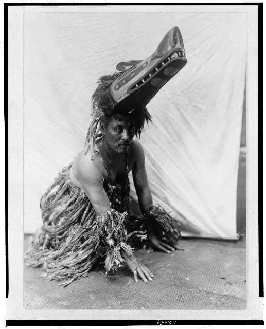 Edward Curtis' Photographs of Kwakwaka'wakw Ceremonial Dress and Masks (ca. 1914) | The Public Domain Review