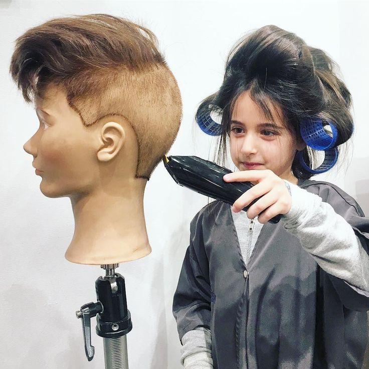 FUTURE ARTIST CONCENTRATES: #clippers #clippercut #barbershop #menshaircut #kidscuts #kids #girl #littlegirl #mannequin #mannequinhead #photobyme #nyc #nycmodel #nycstyle #nycsalon #nycstylist #haircut #markgarrison #markgarrisonsalon #remarkable #behindthechair #modernsalon #americansalon #hashtagpixiecuts #stylistssupportingstylists