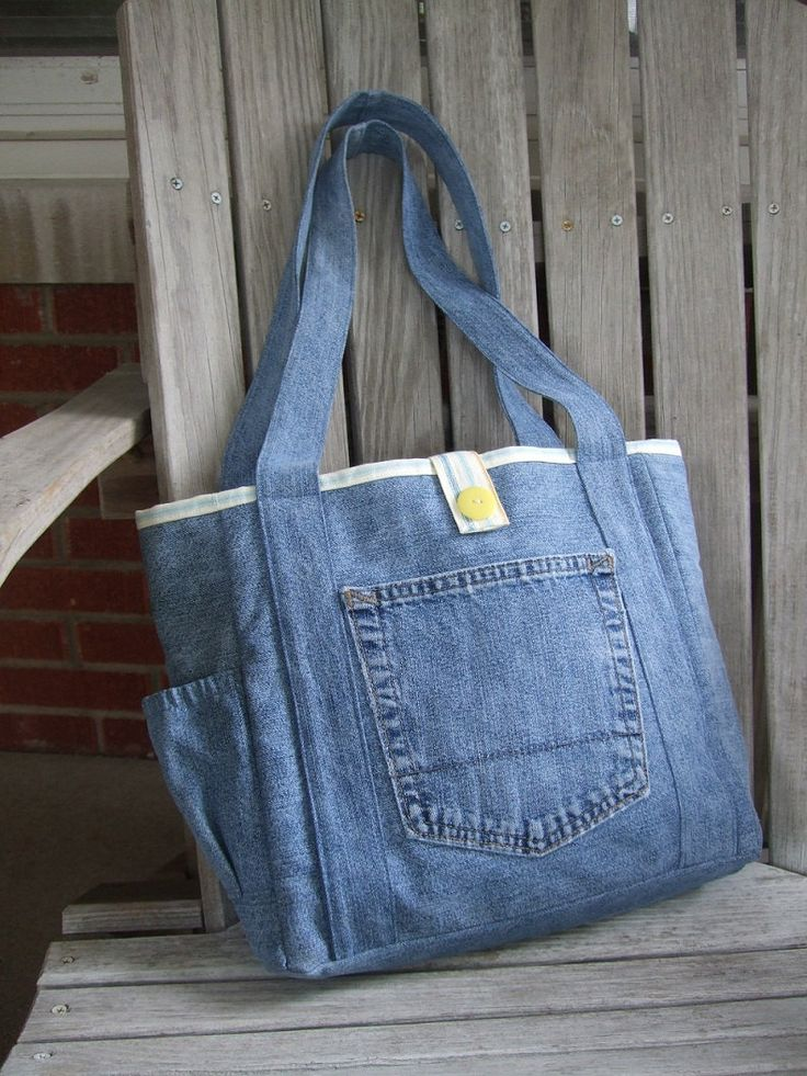 SALE Upcycle Jeans Tote by LiliAndLibby on Etsy