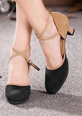 Modern Women's Pumps Cuban Heel Bright Suede Dance Shoes (More Colors)