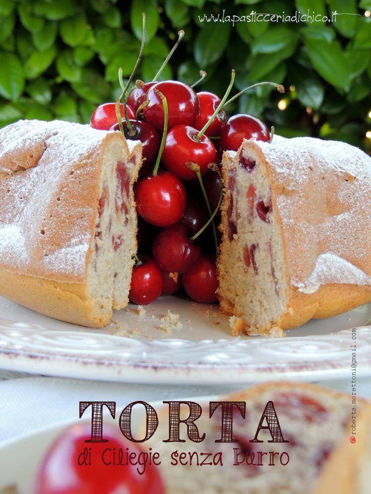 #Torta di ciliegie senza burro #Cake #Cherry #Dessert #recipe #lapasticceriadichico http://www.lapasticceriadichico.it/2015/06/torta-di-ciliegie-senza-burro.html