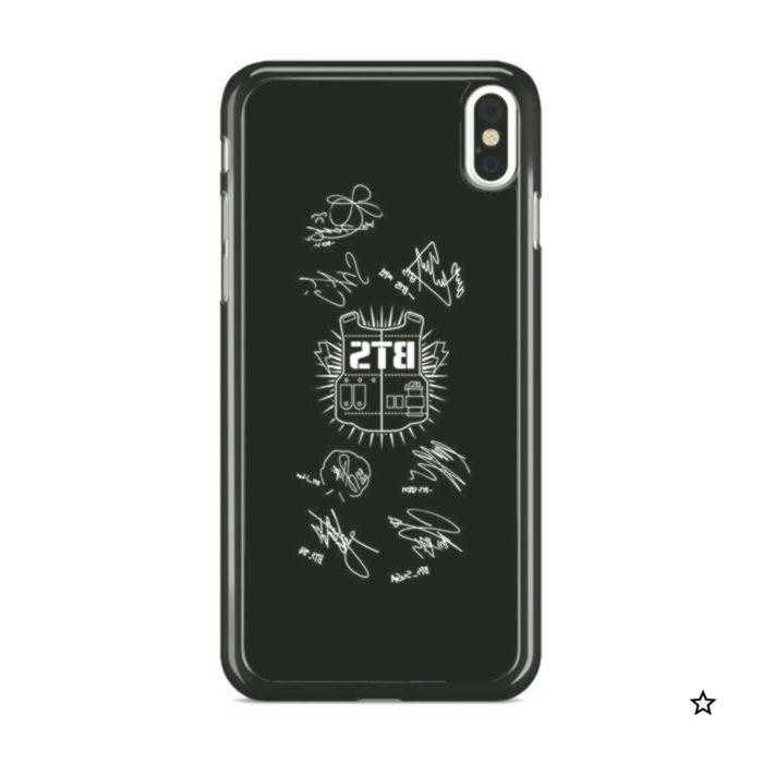 BTS Army Signatures Black iphone case