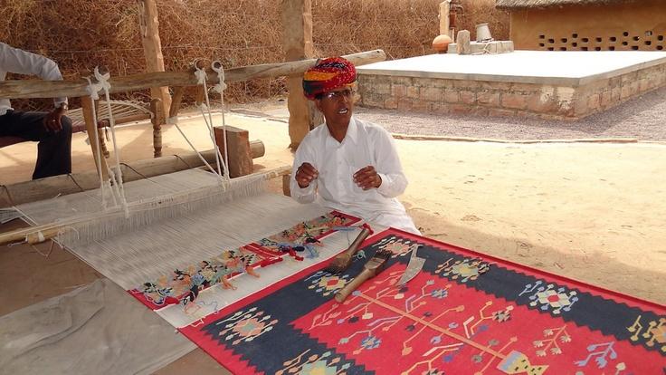 Crafts of India - Rajasthan Rug Weaving