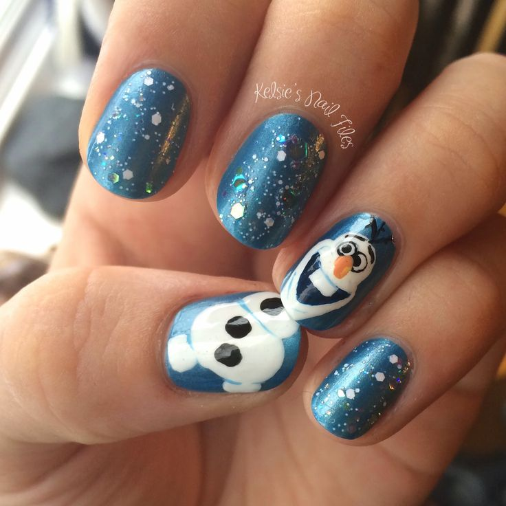 Christmas Nail Art Frozen: Best ideas about olaf nails on ariel ...